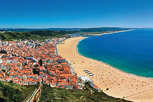 portugal nazare panorama plage  it