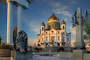 russie moscou cathedrale du christ sauveur  it
