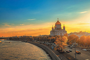 russie moscou coucher soleil  fo