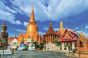 thailande bangkok wat phra kaeo temple  it