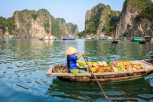 vietnam baie halong marche flottant  it