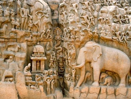 voyage inde mamallapuram descente gange