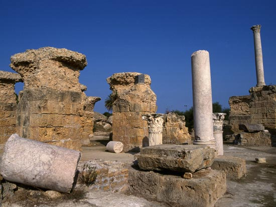 voyage tunisie parc thermes antonin carthage
