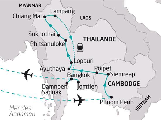 Cambodge Thailande 195225