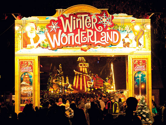 angleterre londres winter wonderland