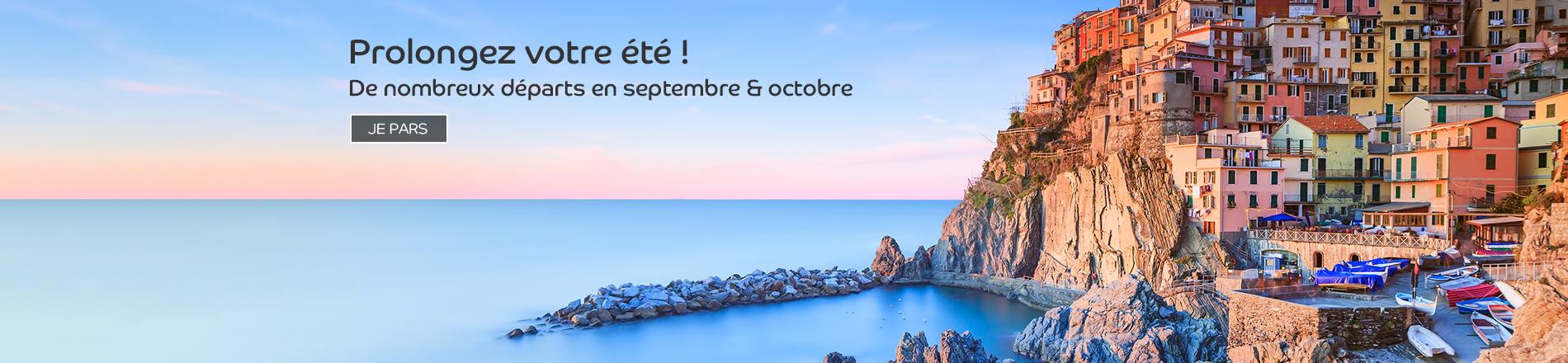 Les voyages en septembre et octobre en avion et autocar