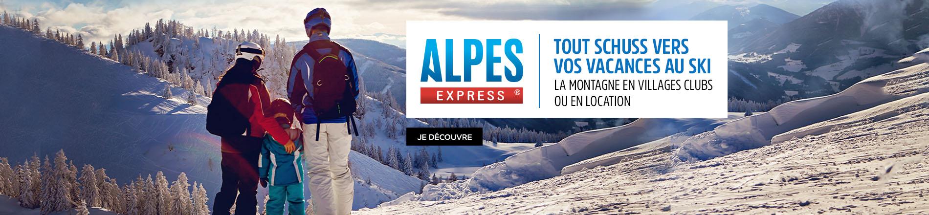 Les vacances au ski avec Alpes Express
