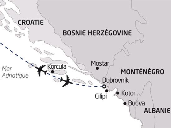 Carte Sejour Croatie.Sejour Croatie Montenegro Sejour Decouverte A Dubrovnik