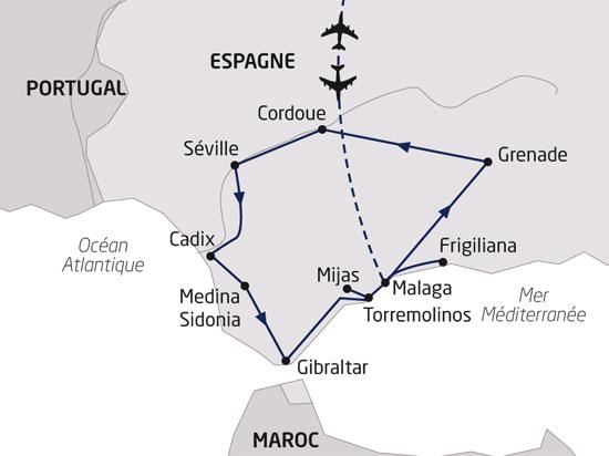 carte espagne splendeurs andalouses 529907