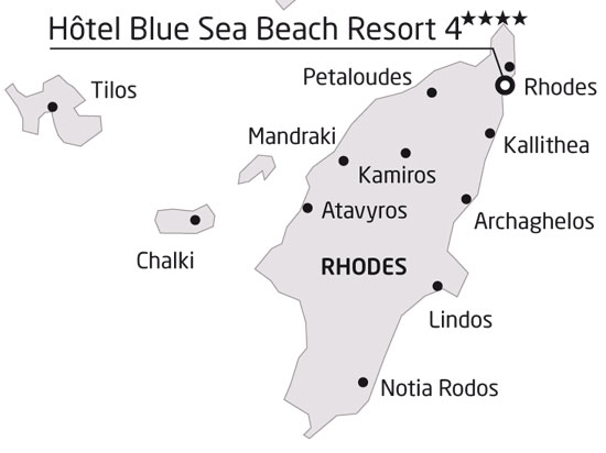 carte grece rhodes hotel club heliades blue sea beach resort 421953