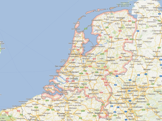 (Map) carte carnet pays bas