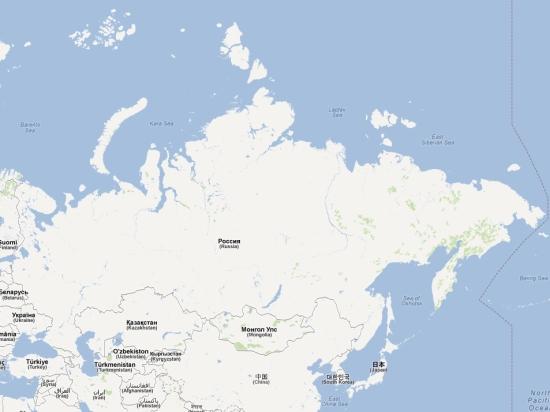 (Map) carte carnet russie