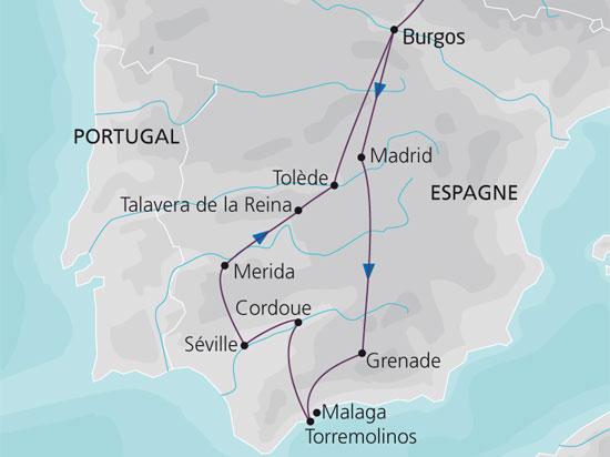 carte espagne andalousie semaine sainte 446232