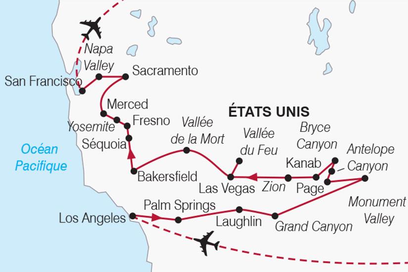 carte usa authentique californie 112205