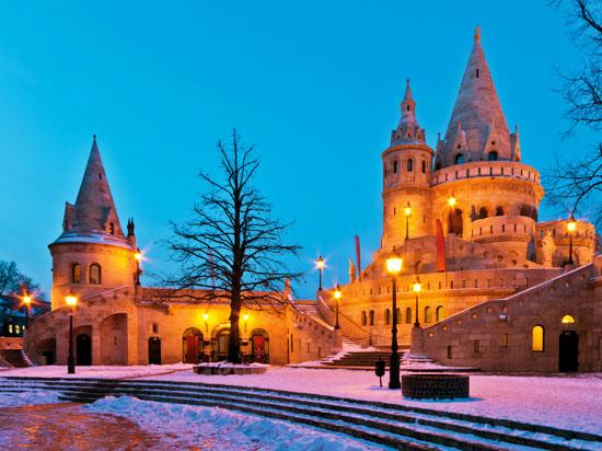 (Image) hongrie budapest bastion pecheurs hiver  fotolia