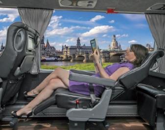 les autocars Impérial Space sont équipés de sièges en cuir