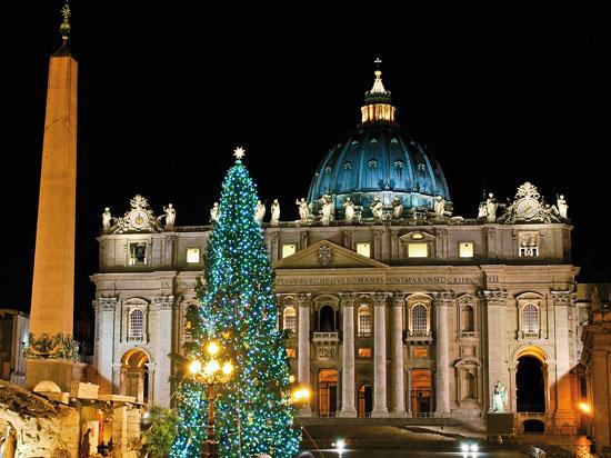 italie rome basilique st pierre noel  fotolia