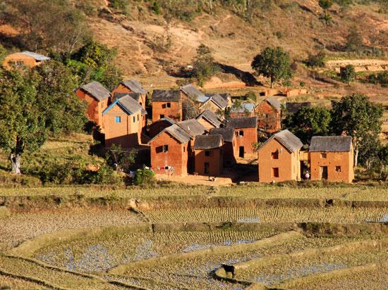 madagascar village hautes terres