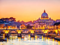 italie rome coucher soleil