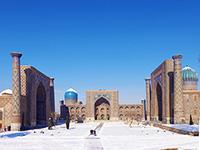 ouzbekistan samarcande place reghistan hiver