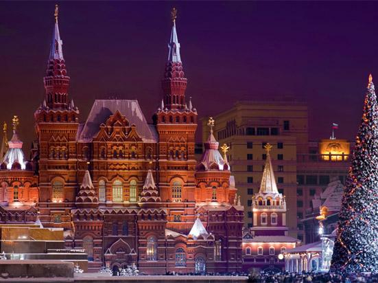 Russie moscou la place rouge et le musee d histoire